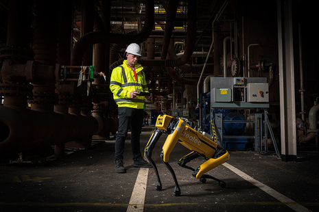 Spot in action during the Sellafield trial