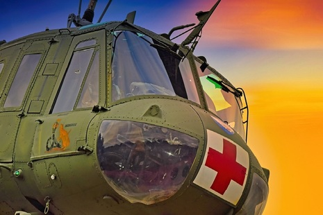 Image showing front of emergency helicopter