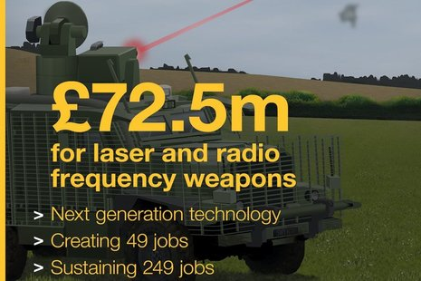 Laser and radio frequency weapons announcement