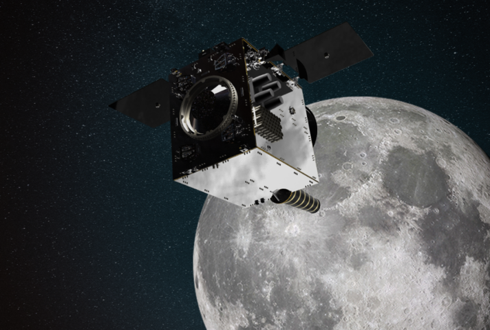 Lunar Pathfinder in orbit. Credit: SSTL