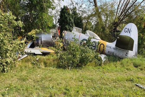 Aircraft crashed among trees