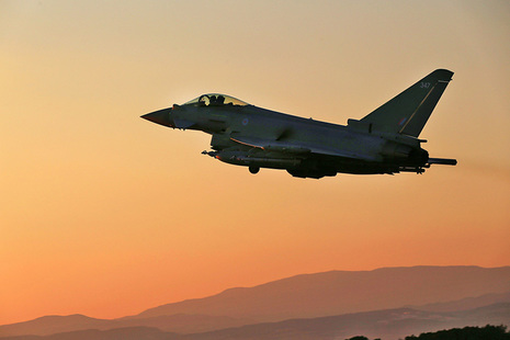 Aeroplane against the sunset