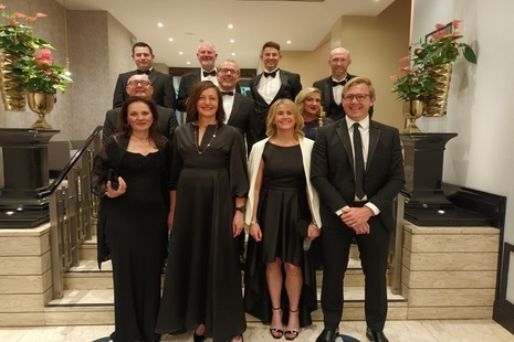 Representatives from Sellafield Ltd's supply chain team standing together for a group photograph ahead of the CIPS awards.