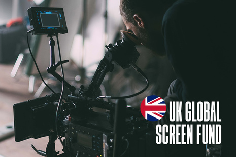 UK Global Screen Fund branded image of cameraman