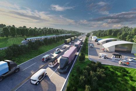 Illustration of future transport.