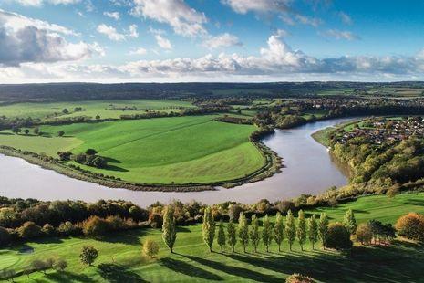 Meander on a river