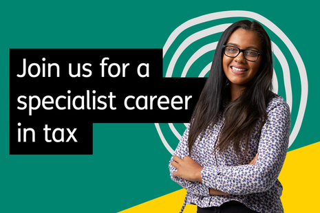 Join us for a specialist career in tax