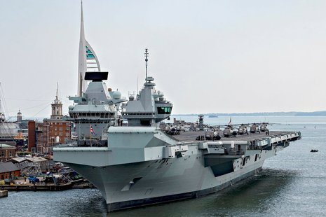 HMS Prince of Wales in HMNB Portsmouth