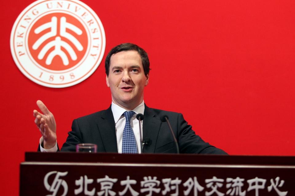 英国财政大臣乔治•奥斯本在北京大学的演讲