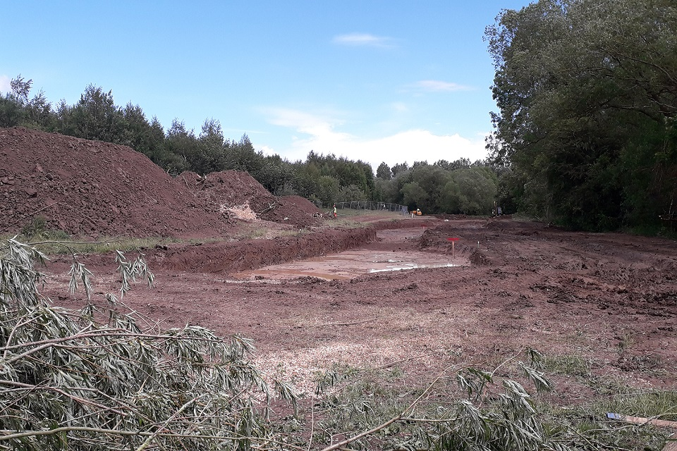 Image shows start of work at Coatham Wood
