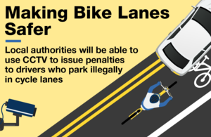 Making bike lanes safer graphic