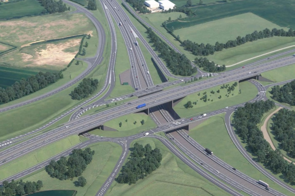 How the Black Cat junction would look once the project is complete