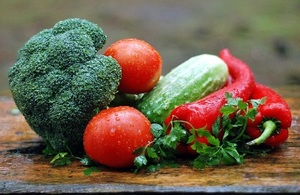 Image of vegetables on a table