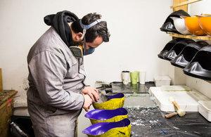 Dashel helmets in production in the UK