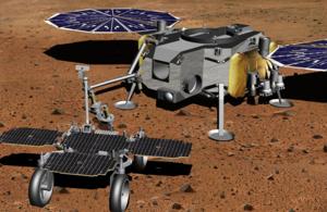 Artist's impression of sample return mission on Mars
