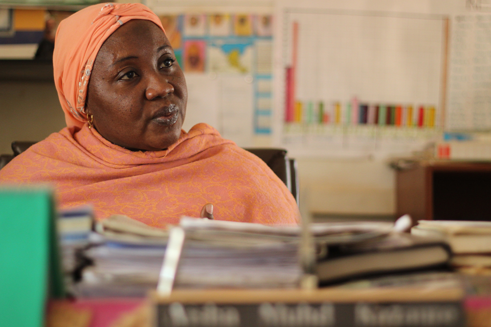 Aisha in her office in Jigawa. Picture credit Lindsay Mgbor/DFID