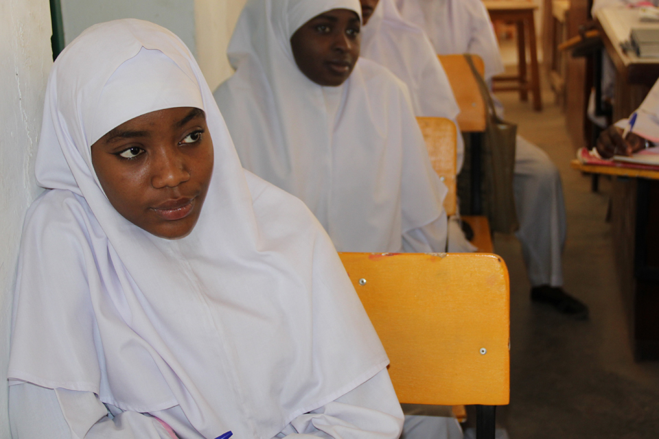 Star student: Satarau wants to become a midwife to save womens' and babies' lives. Picture: Lindsay Mgbor/DFID