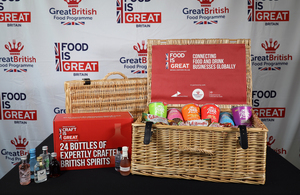 Food is GREAT hamper and box of spirits