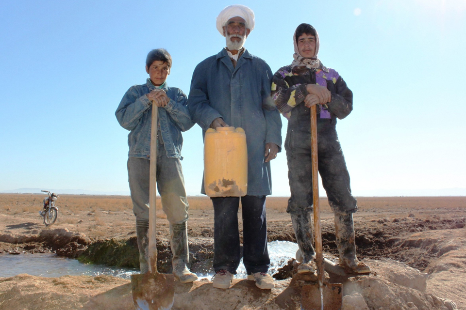 Mullah Neoka and his sons, digging a new future in Herat, Afghanistan. Picture: Catherine Belfield-Haines/DFID