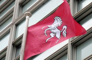 Kent flag flying outside Eland House