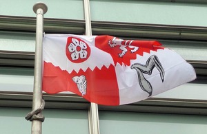 Leicestershire flag flying outside Eland House