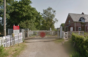 Photograph of Google Street View image of Worlingham user worked crossing