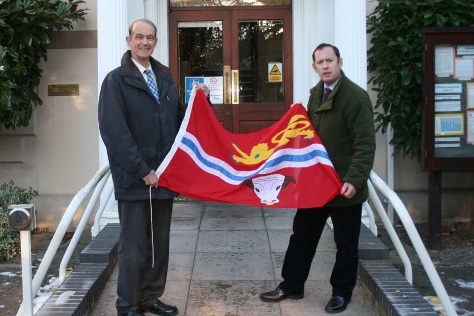 Presenting the Herefordshire county flag