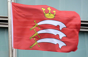 Flag of middlesex flying outside Eland House