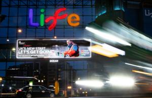 A picture of a campaign billboard in Newcastle.