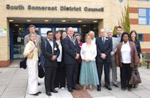 Champions of participation from Kenya, Bosnia, Argentina, Norway and the UK visit South Somerset District Council in June 2007