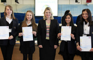 Justine Greening and the winners