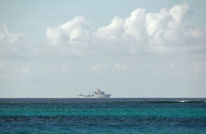UK warship patrols waters between TCI and Haiti