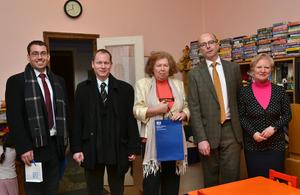 British Ambassador hands over charity donations to homeless kindergarten