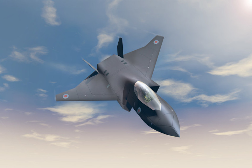Concept imagery of the Tempest aircraft.