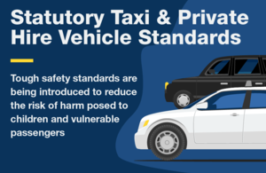Taxi and private vehicle hire standards graphic