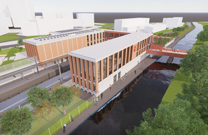 An artist's impression of the upgraded Birmingham University rail station