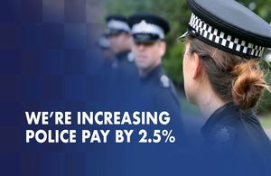 Police to receive 2.5% pay increase