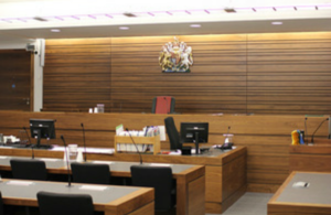 Photograph of a courtroom