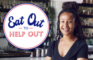 The 'Eat Out to Help Out' logo