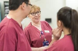 Nurses chatting