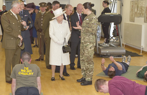 The Queen and Prince Philip touring the Defence Medical Rehabilitation Centre at Headley Court [Picture: Senior Aircraftman Tommy Axford, Crown copyright]