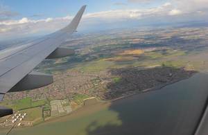 Flying over the River Thames.