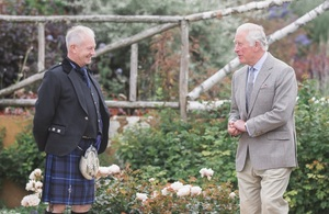 Mick Moore and HRH The Duke of Rothesay