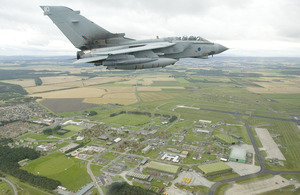 A 617 Squadron Tornado GR4 flies over RAF Lossiemouth in Scotland [Picture: Senior Aircraftman Kay-Marie Bingham, Crown copyright]