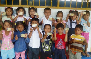 Children at the region of San Martin