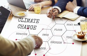 Climate change effects in hexagons