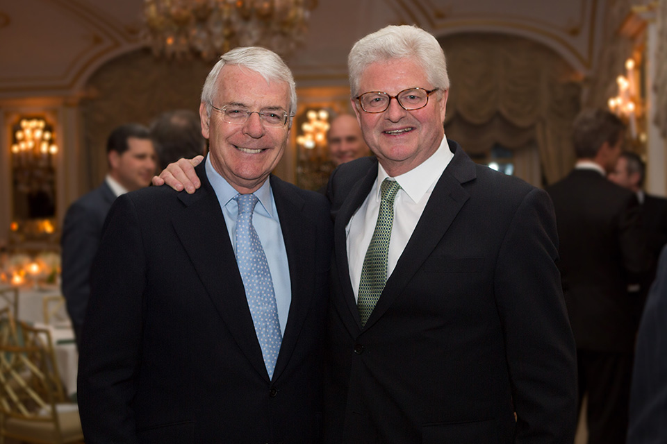 Former Prime Minister John Major and Lloyd's Chairman John Nelson.