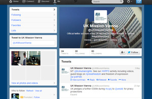 UK Mission to the UN in Vienna Twitter page