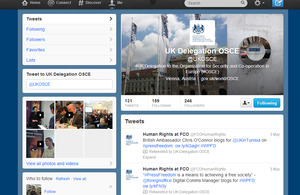 UK Delegation to the OSCE Twitter page