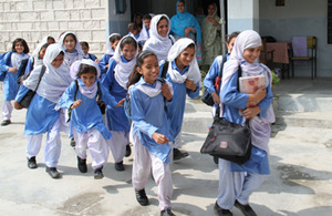 Schoolgirls who receive the cash stipend at Sajikot Government Girls Primary School in Abbottabad, Pakistan. Picture: Vicki Francis/DFID